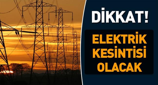 ÜNYE'DE ELEKTRİK KESİNTİSİ