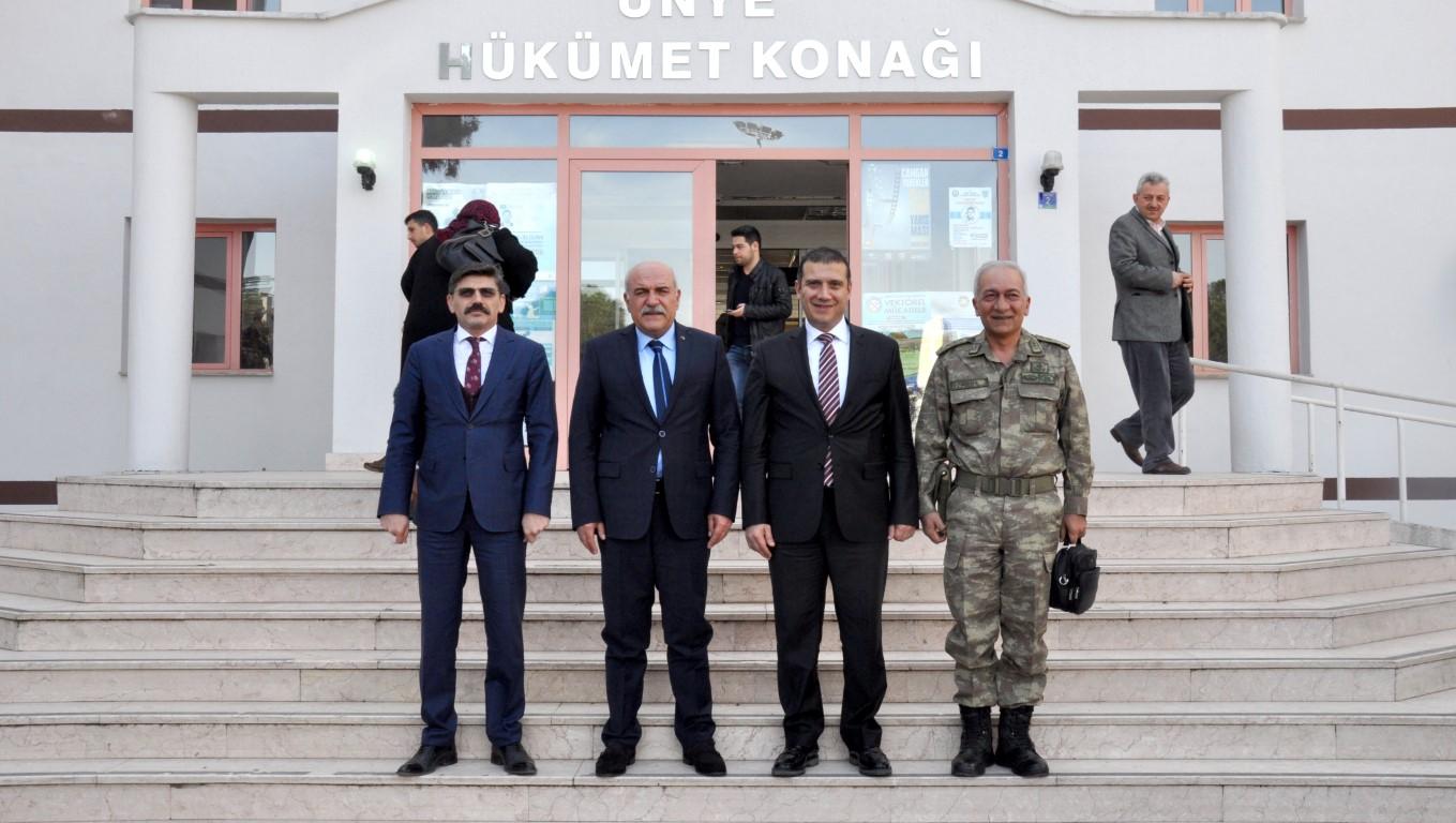 Sinop Valisi Hasan İpek'ten Ünye Kaymakamı Güneye Ziyaret
