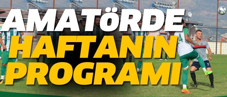 1.Amatör Lig'de 2.Hafta Heyecanı Maç Programı
