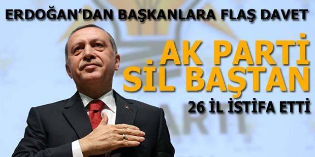AK Parti'de 26 İl Başkanı İstifa Etti