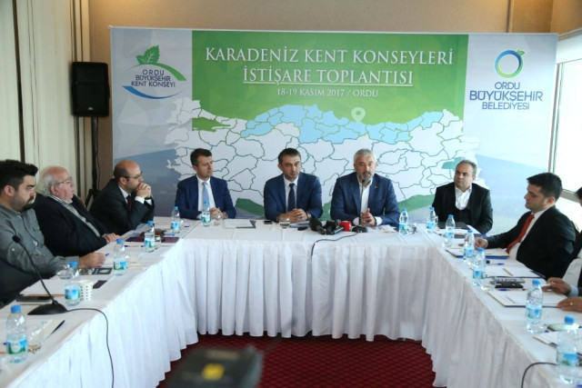 Karadeniz Kent Konseyleri İstişare Toplantısı Ordu'da Yapıldı