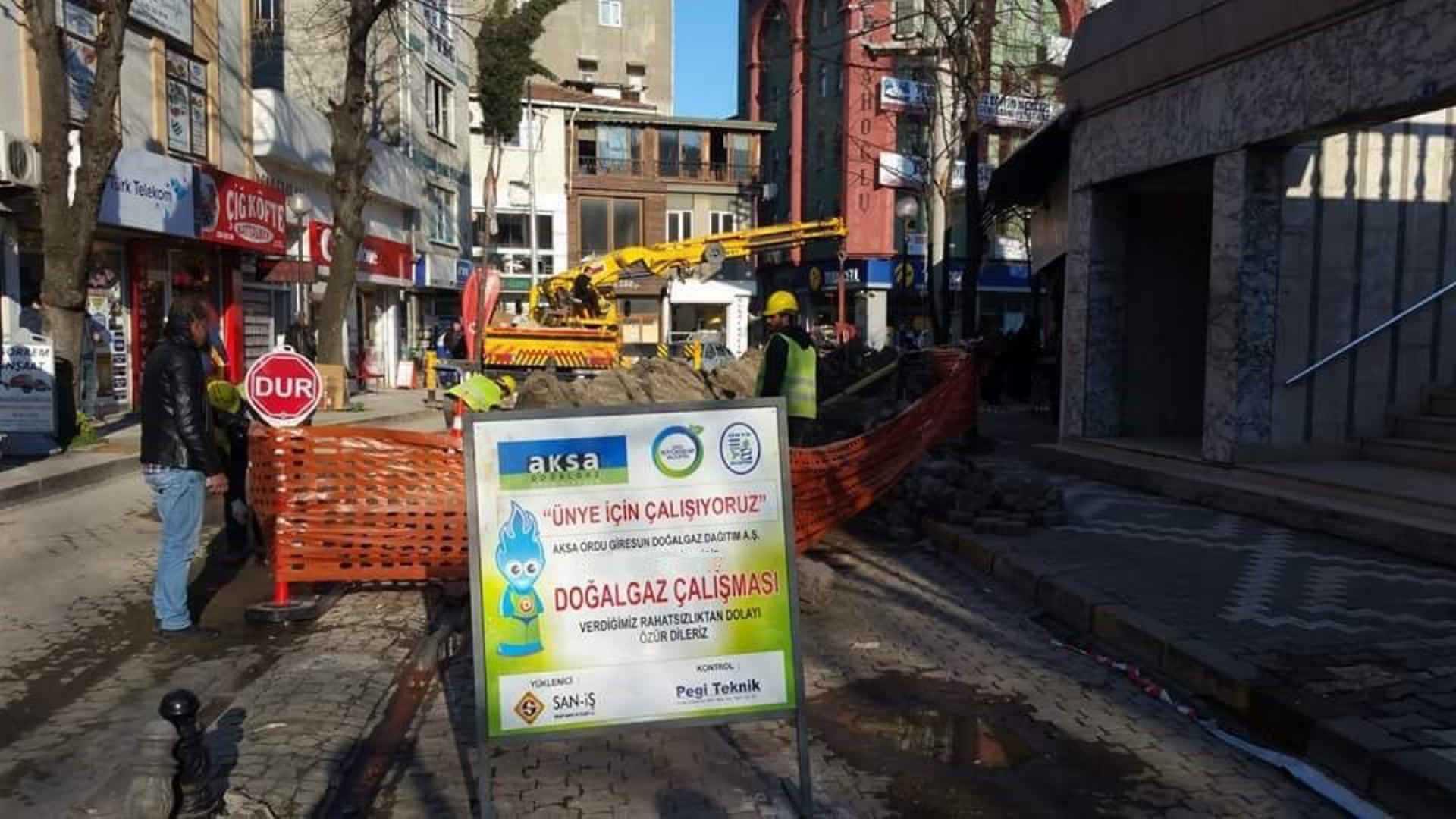 ÜNYE'DE 6 MAHALLEYE DOĞAL GAZ VERİLDİ