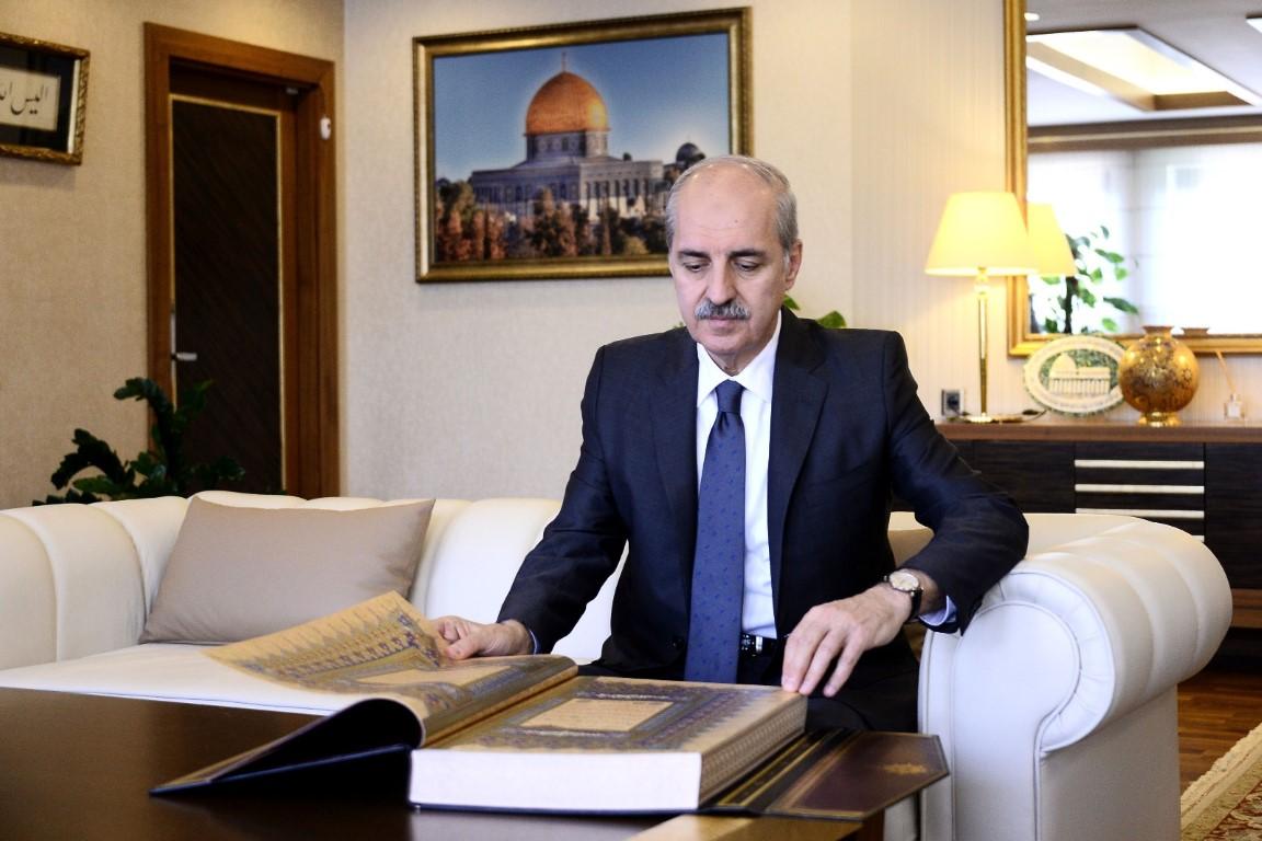 Kurtulmuş'tan ,Cumhurbaşkanı  Erdoğan'a Anlamlı Hediye