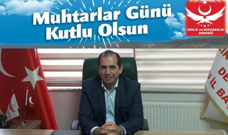 """Belediye Başkan Aday Adayı Gümüş,19 Ekim """"Muhtarlar Günü"""" Mesajı Yayınladı"""
