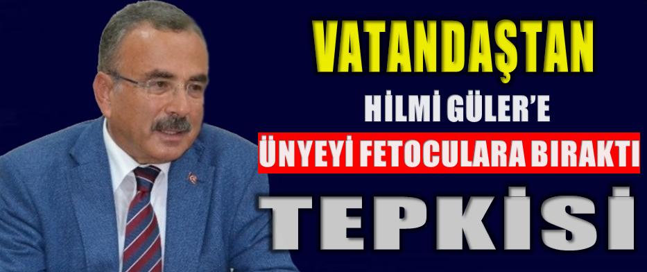 """VATANDAŞ""""AK PARTİ KAYBEDERSE SUÇLU HİLMİ GÜLER""""DEDİ"""