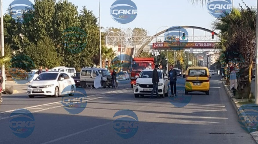 Ünye'de Maddi Hasarlı Trafik Kazası