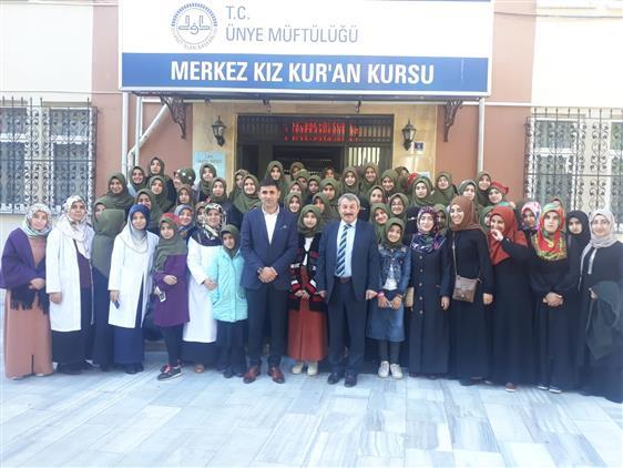 Ağrı Merkez Kız Kur'an Kursu Misafir Öğrencileri Ünye'de