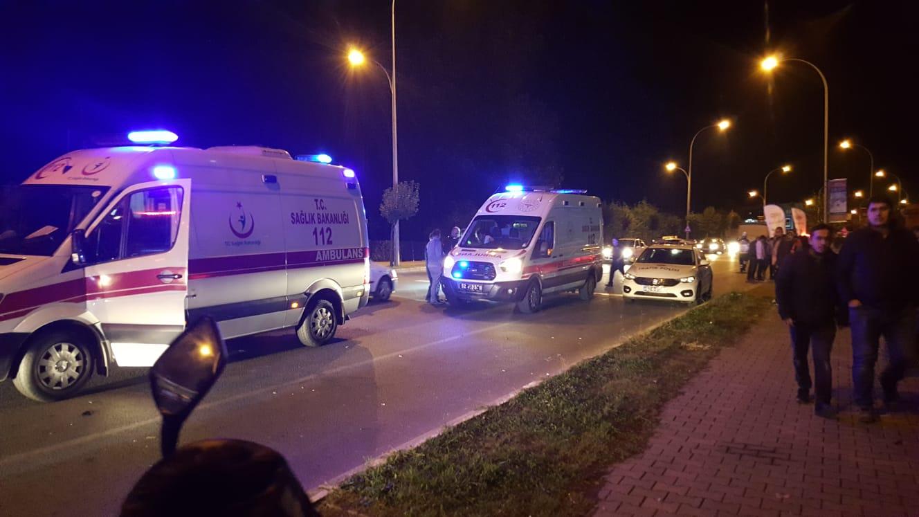 Ünye'de ki trafik kazasında 2 kişi yaralandı