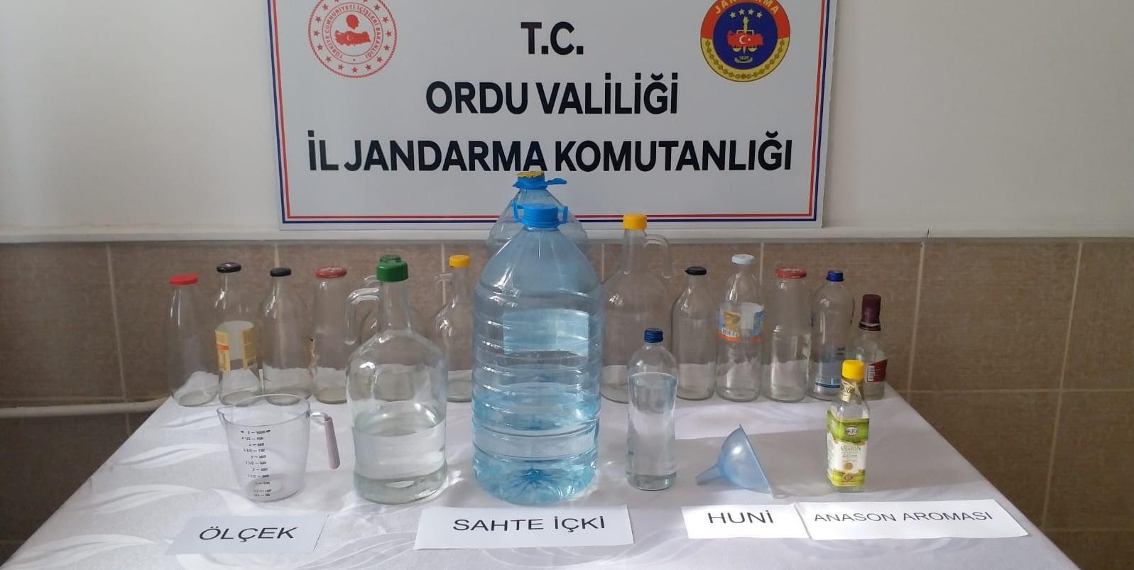 İl Jandarma'dan Sahte İçki Operasyonu