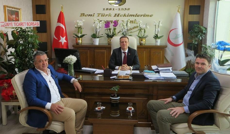 ÜTBO'dan Ünye Devlet Hastanesi Başhekimine Ziyaret