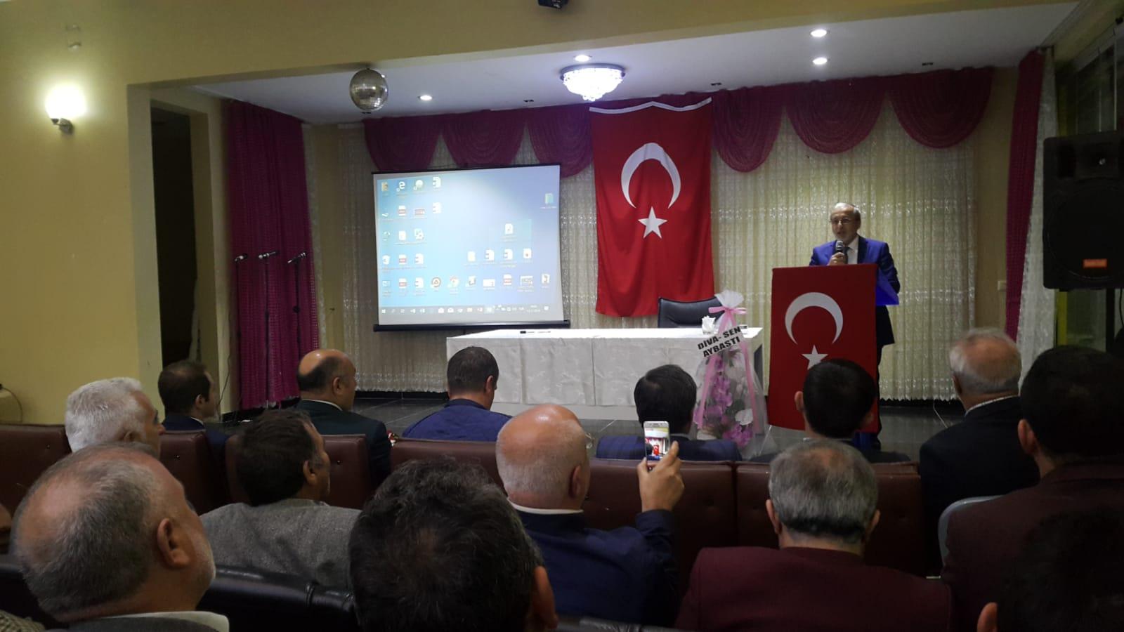 Müftü Öztürk'ten Çatalpınar ve Aybastı'da Konferans