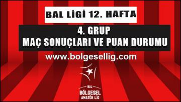 Bal Ligi 4.Grup'ta 12.Hafta Maç Sonuçları