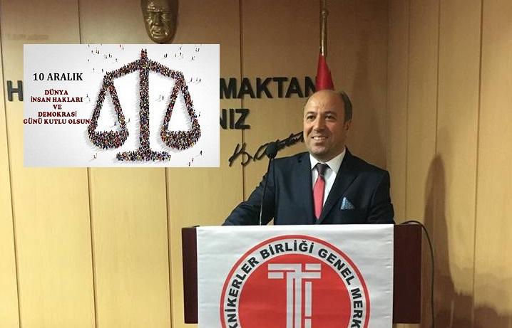 10 Aralık İnsan Hakları ve Demokrasi Günü Mesajı