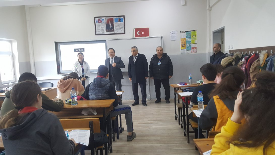 8. Sınıflara Merkezi Sınav Hazırlık Testi Yapıldı.