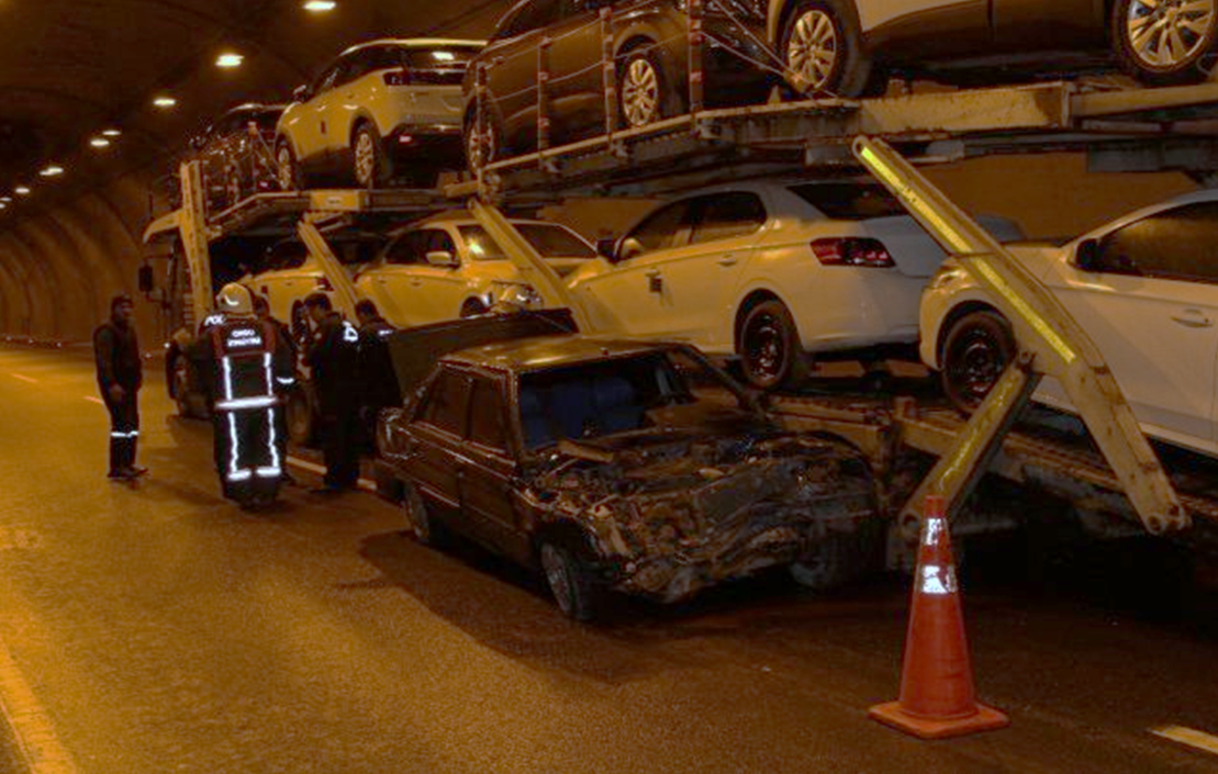 Bayramca Tüneli'ndek Kaza Korkuttu