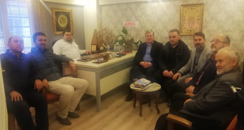 Saadet Partisinden, Çakır Medya'ya 10 Ocak Çalışan Gazeteciler Günü Ziyareti