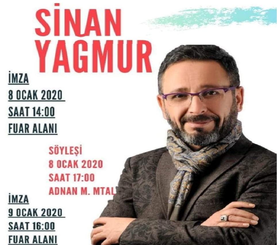 Yazar Sinan Yağmur, 8-9 Ocak'ta Ünye'de Okurları İle Buluşacak