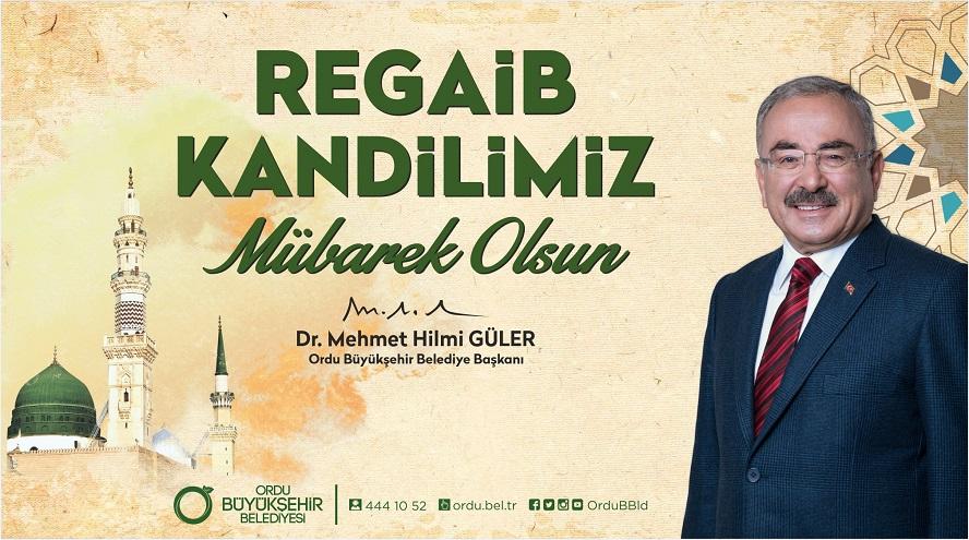 """REGAİB KANDİLİ'NİZİ TEBRİK EDİYORUM"""
