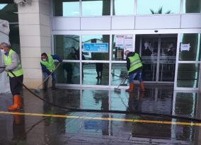 Ünye Devlet Hastanesi Çevresine Corona Virüs Önlemi