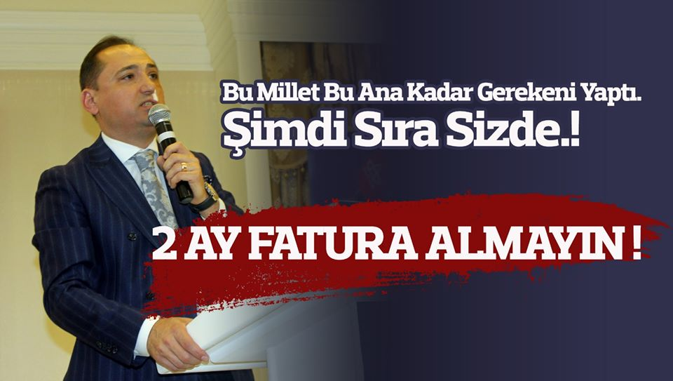 """2 AY ELEKTRİK VE SU FATURASI ALMAYIN"""