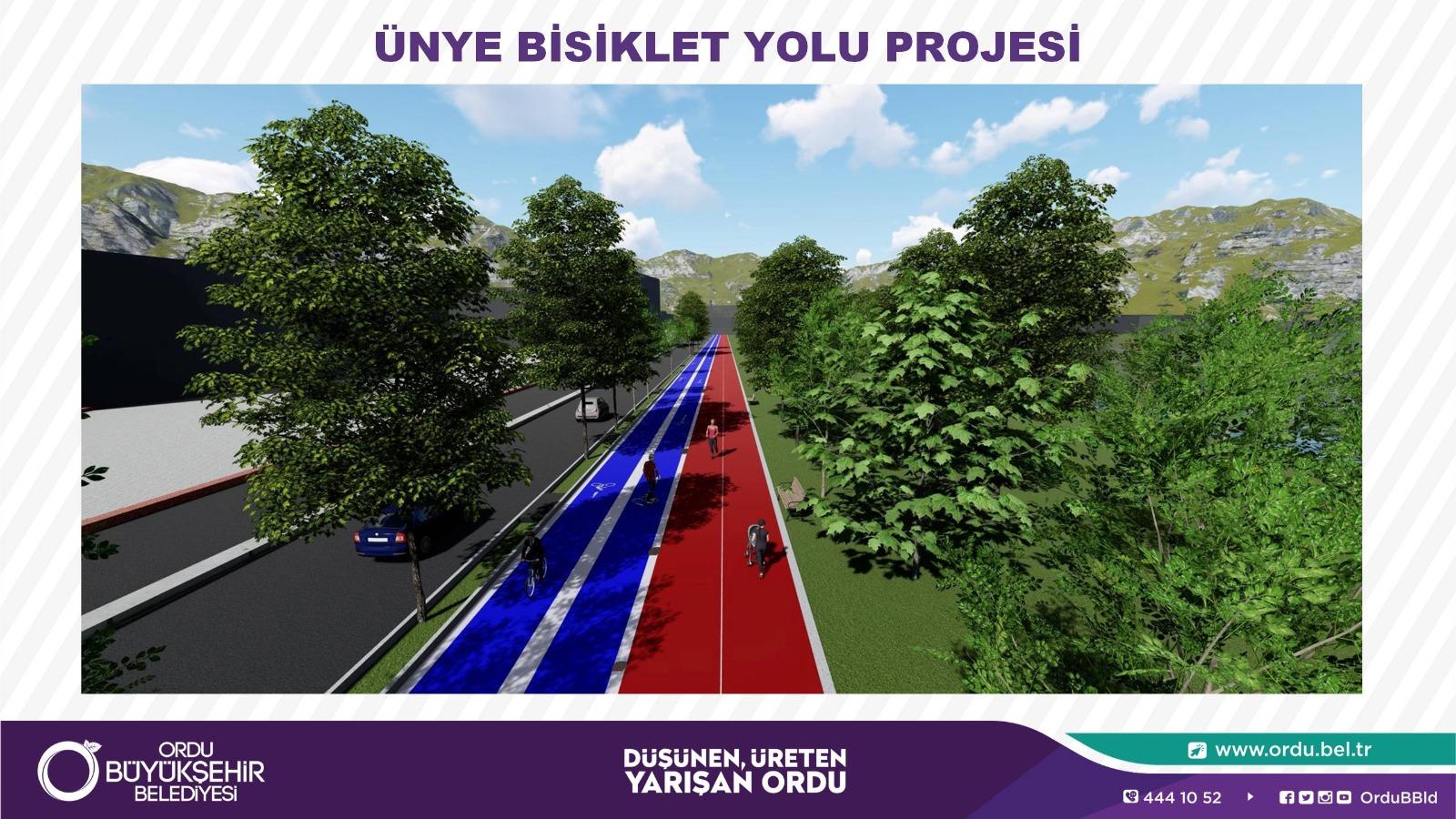 Ünye bisiklet ve yürüyüş yolu projesi ortaya çıktı