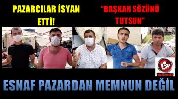 YENİ PAZAR YERİNDE, ESNAF DERTLİ