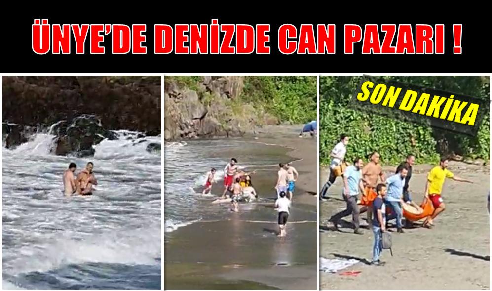 ÜNYE'DE DENİZDE CAN PAZARI! 2 ÖLÜ