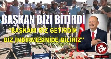 PAZARCILAR BAŞKANI PROTESTO ETTİLER MALLARI SOKAĞA DÖKTÜLER