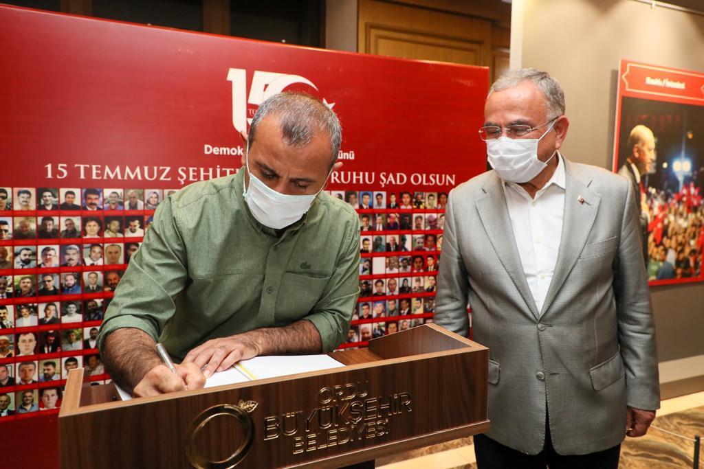 15 Temmuz Şehitlerini Anma, Demokrasi ve Milli Birlik Günü Anma Programı Ordu'da Gerçekleştirildi