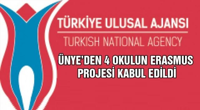 ÜNYE'DEN 4 OKULUN ERASMUS PROJESİ KABUL EDİLDİ