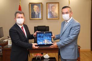 ÖSYM Başkanı Aygün'den Rektör Akdoğan'a Ziyaret