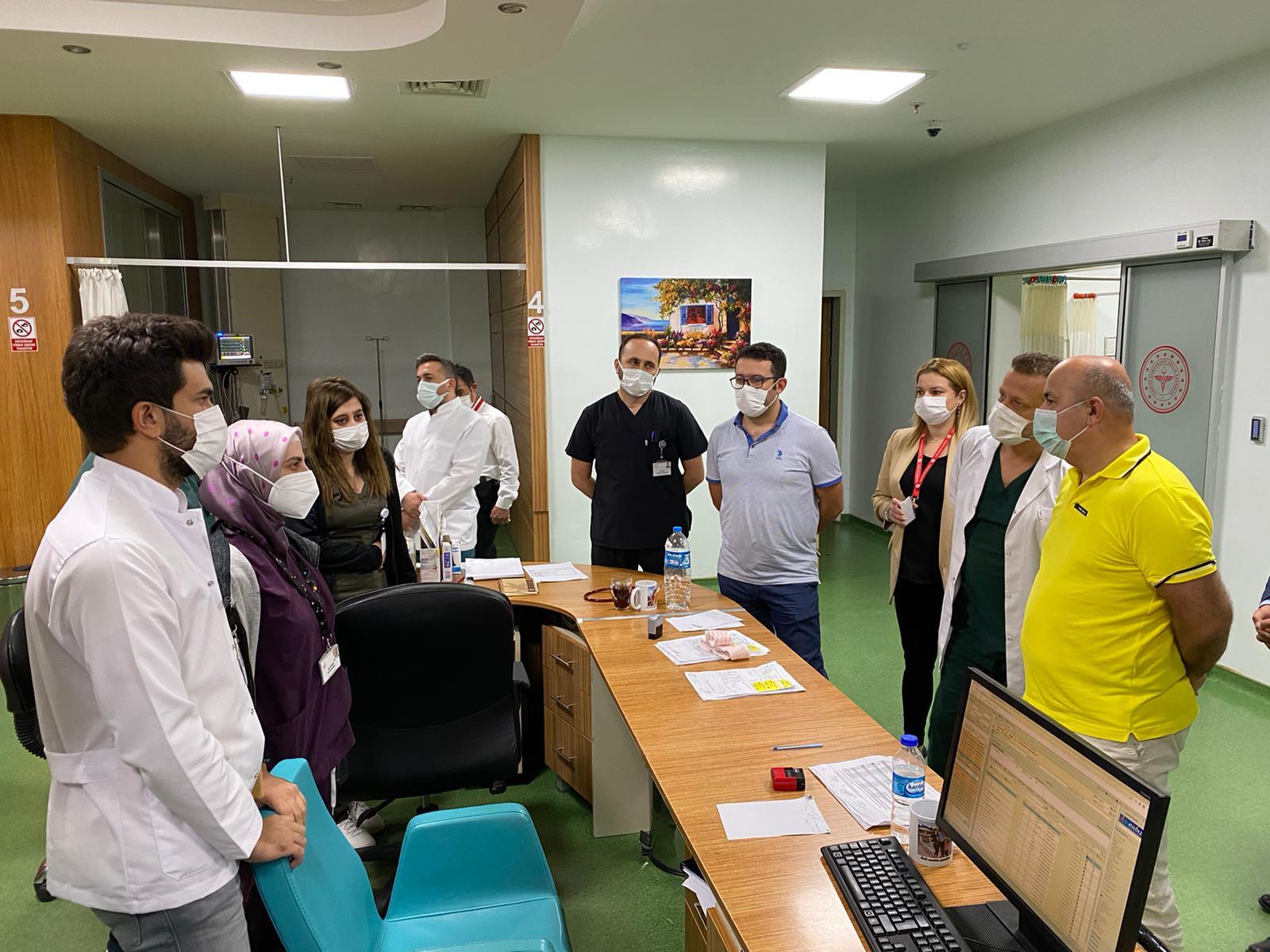 Kasapoğlu ve Altınbaş, Fatsa ve Ünye Devlet Hastanelerini Ziyaret Etti