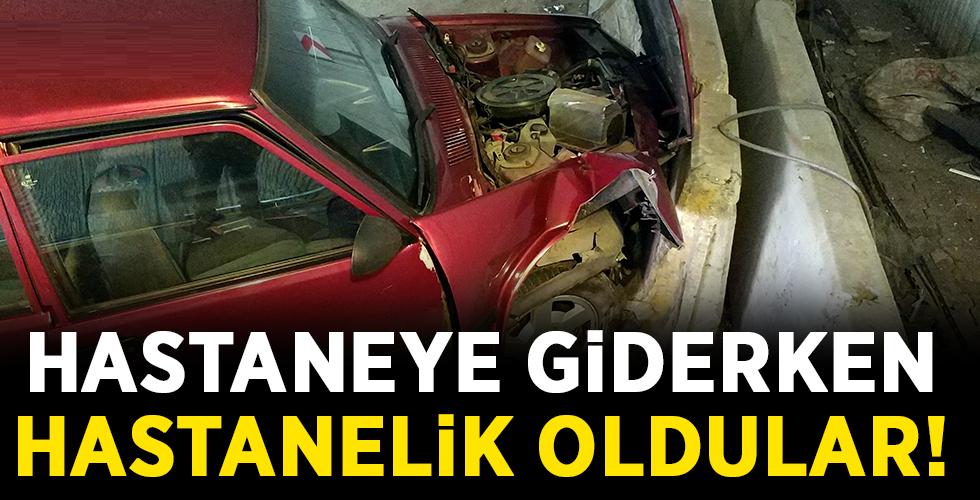Ünyeli Aile Samsun'da Kaza Yaptı