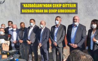 CHP'Lİ TORUN SONDAJ ALANINDAKİ VATANDAŞLARIN YANINDA