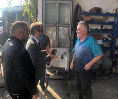 Başkan Hacıimamoğlu'ndan Sanayi Esnafına Destek