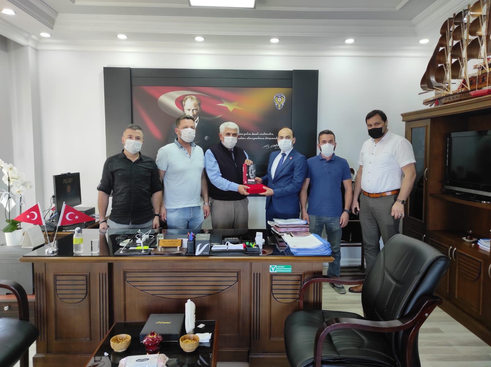 Yeniden Refah Partisi'nden Emniyet Müdürü Korkmaz'a Hayırlı Olsun Ziyareti