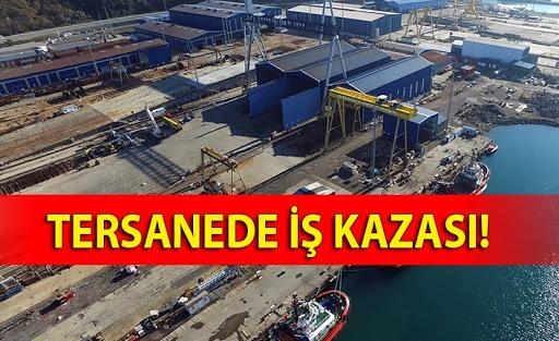 ÜNYE TERSANEDE İŞ KAZASI: 1 YARALI