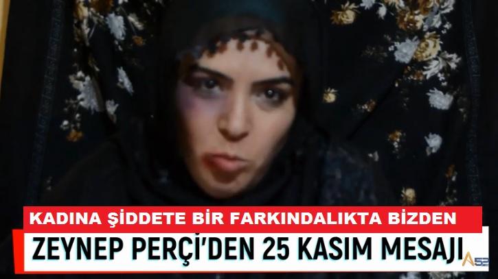 """PERÇİ'DEN """"ŞİDDETE HAYIR"""" KLİBİ"""