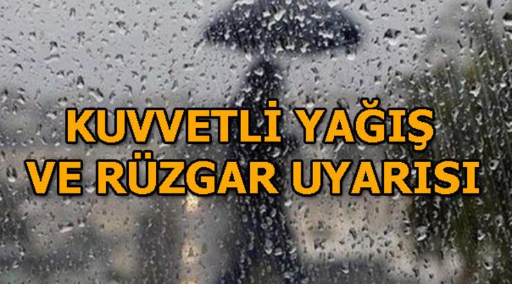 Rüzgar ve sağanak yağış uyarısı