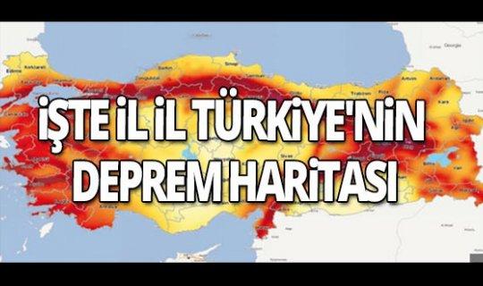 İşte il il Türkiye'nin deprem haritası
