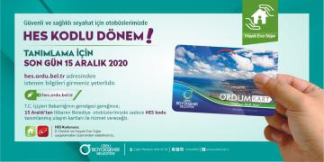 """TOPLU TAŞIMALARDA """"HES KODU"""" DÖNEMİ"""