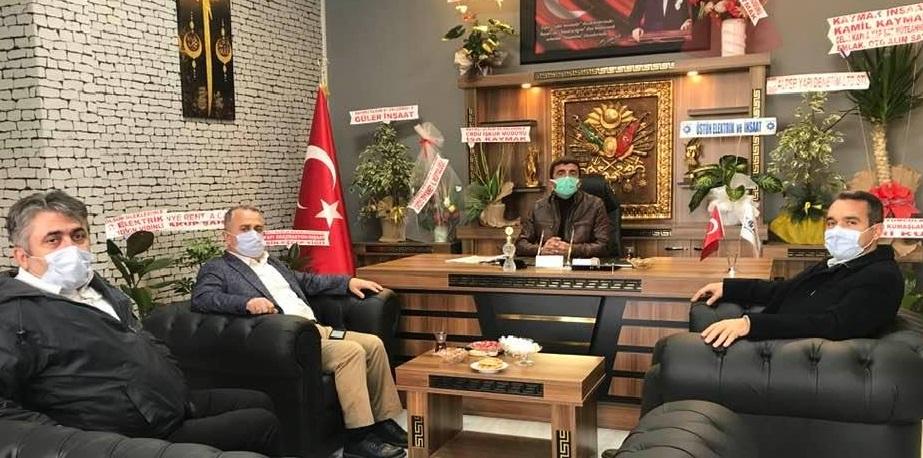 BELEDİYEDEN İŞ ADAMI KAYMAK'A ZİYARET