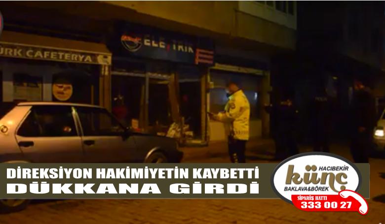 ÜNYE'DE BOŞ YOLDA KAZA YAPTI