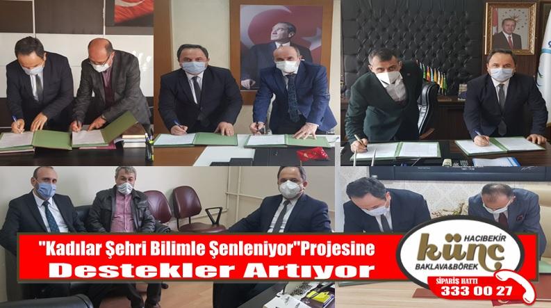 """""""Kadılar Şehri Bilimle Şenleniyor"""" Protokolü İmzalandı"""