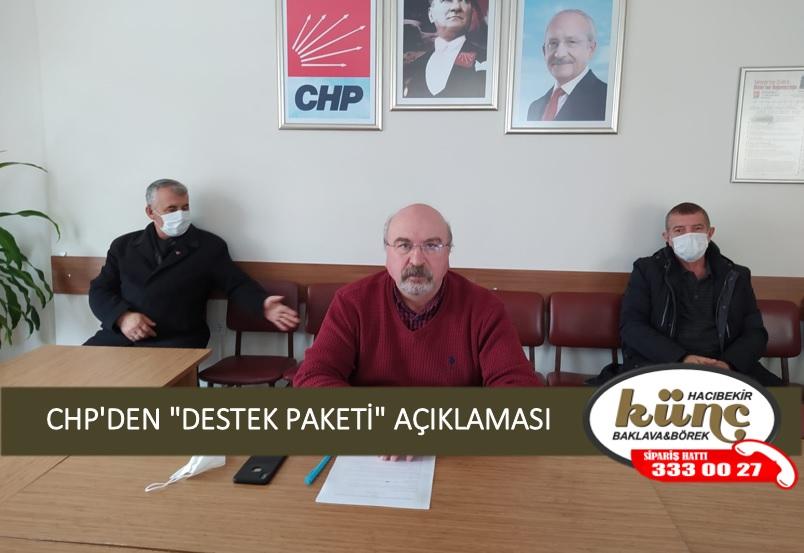 "CHP'DEN ""DESTEK PAKETİ"" AÇIKLAMASI"