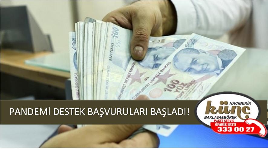 PANDEMİ DESTEK BAŞVURULARI BAŞLADI!