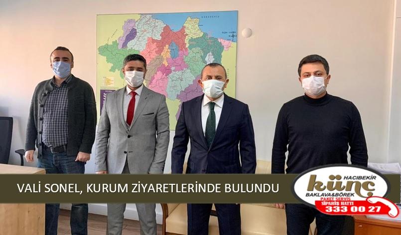 VALİ SONEL, KURUM ZİYARETLERİNDE BULUNDU