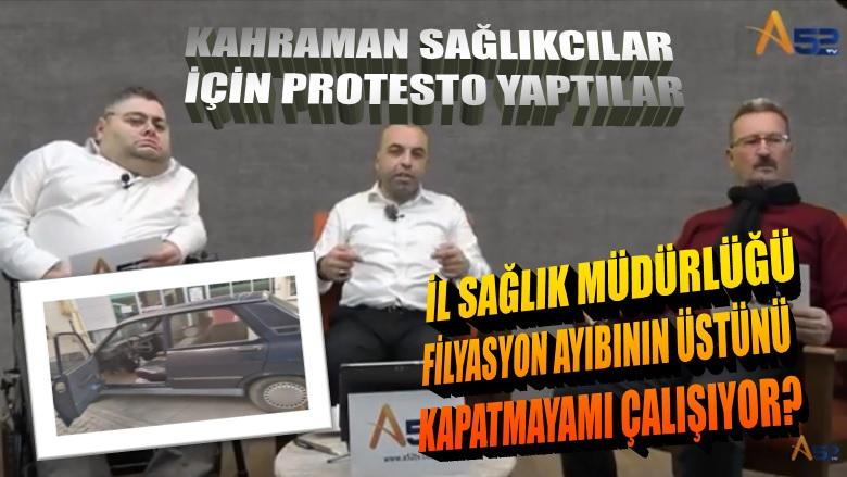 FİLYASYON SKADALINI PROTESTO ETTİLER