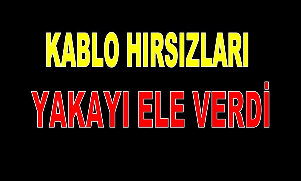 KABLO HIRSIZLARI YAKAYI ELE VERDİ