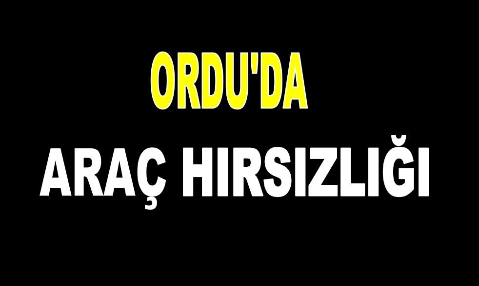 ORDU'DA ARAÇ HIRSIZLIĞI